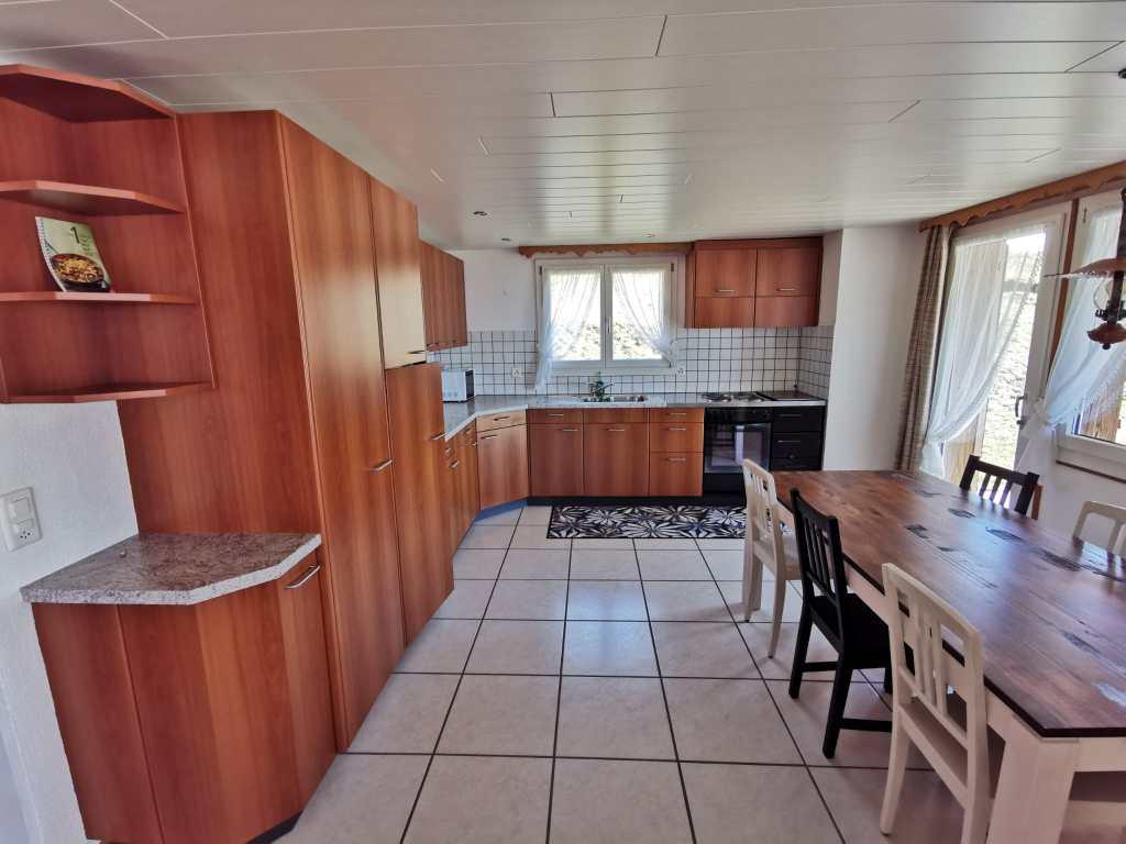 Küche, Wohnzimmersicht